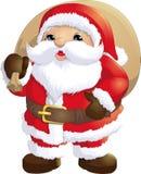 Santa Claus målade på en vit bakgrund Arkivfoto