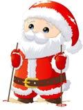 Santa Claus målade på en vit bakgrund Arkivfoton
