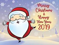 Santa Claus månesnöar stock illustrationer