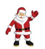 Santa claus machał Fotografia Royalty Free