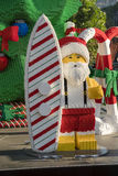 Santa Claus machte durch Lego-Ziegelsteine Lizenzfreies Stockfoto