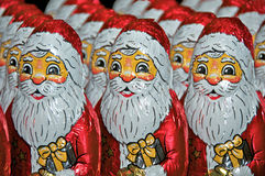 Santa Claus made of chocolate Royalty Free Stock Photography