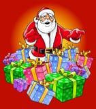Santa Claus magic Christmas stock illustration