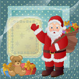 Santa Claus magic Christmas holidays. Christmas background with Santa Claus, vector Illustration vector illustration