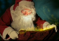 Santa Claus and the magic sack Royalty Free Stock Photography