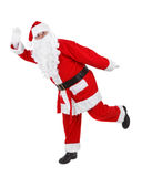 Santa claus makes funny pose Royalty Free Stock Images
