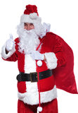 Santa claus is making the ok sign Royalty Free Stock Images