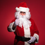 Santa claus is making the ok thumbs up ok sign Royalty Free Stock Photos