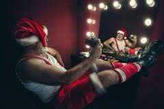 Santa Claus making selfie royalty free stock image
