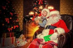 Santa Claus man Arkivbilder