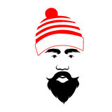 Santa Claus. The man in a hat. Red stripes Stock Image