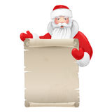 Santa claus with the manuscript Royalty Free Stock Photo