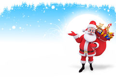 santa claus with many gifts Stock Image