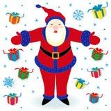 Santa Claus and many gifts Royalty Free Stock Photo