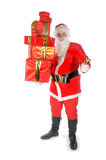 Santa Claus with many presents Stock Image