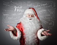 Santa Claus and many wishes Stock Photo