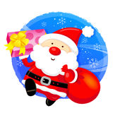Santa Claus mascot the event activity. Christmas Character Desig Royalty Free Stock Photography