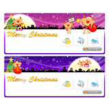 Santa Claus Mascot using a variety of banner designs. Christmas Stock Photography