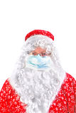 Santa claus in mask Stock Photography