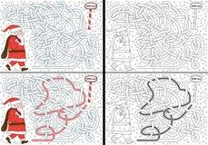 Santa Claus maze Stock Image