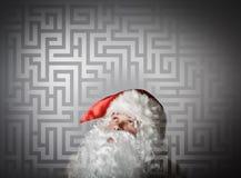 Santa Claus and maze Stock Photos