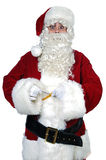 Santa Claus with measure tape Royalty Free Stock Image