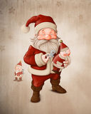 Santa Claus and mechanical doll Royalty Free Stock Images