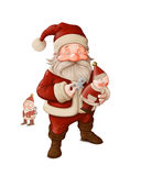Santa Claus and mechanical doll Royalty Free Stock Photos