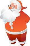 Santa Claus med att le för exponeringsglas Arkivfoton
