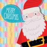 Santa Claus med bubblaanförande. Royaltyfri Bild