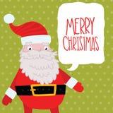 Santa Claus med bubblaanförande. Royaltyfri Fotografi