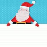 Santa Claus med det pappers- arket. Julbakgrund Royaltyfri Foto