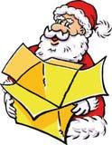 Santa Claus med en giftbox Arkivbild