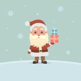 Santa Claus med gåvor Arkivbild
