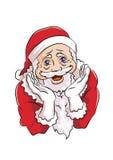 Santa Claus med gulligt poserar Royaltyfri Foto