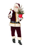 Santa Claus med julgranen Royaltyfri Fotografi