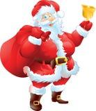 Santa Claus med julpåsen Royaltyfria Bilder
