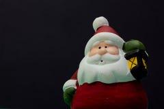 Santa Claus med ljus Arkivbilder