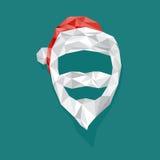 Santa Claus med polygonen Royaltyfria Bilder