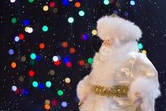 Santa Claus med snön Royaltyfri Fotografi