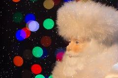 Santa Claus med snön Royaltyfri Bild