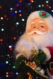 Santa Claus med snön Fotografering för Bildbyråer