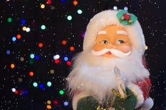 Santa Claus med snön Royaltyfria Bilder