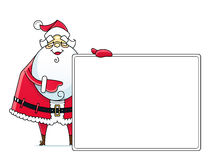 Santa Claus med tecknet stock illustrationer