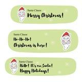 Santa Claus meddelanden Royaltyfri Foto