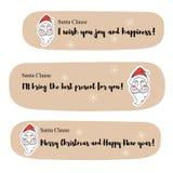 Santa Claus meddelanden Arkivfoton