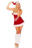 Santa Claus-meisje royalty-vrije stock foto's