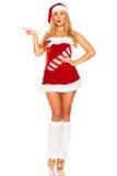 Santa Claus-meisje stock afbeelding