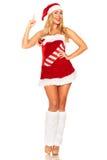 Santa Claus-meisje royalty-vrije stock afbeelding