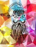 Santa Claus. Merry Christmas background. EPS 10. Hipster Santa Claus. Merry Christmas background. Vector Stock Image